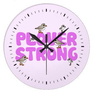 Chorlito fuerte reloj redondo grande