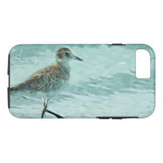 Chorlito hinchado negro en el extracto de la playa funda iPhone 7