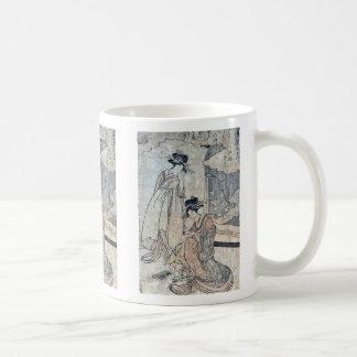 Chorlitos por Utamaro II, d Ukiyoe Tazas