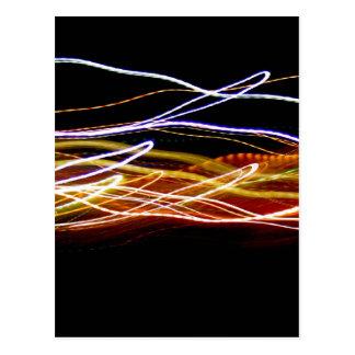 Choropsin de pintura ligero abstracto postal