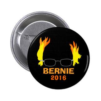 Chorreadoras ardientes divertidas de Bernie del Pin Redondo De 2 Pulgadas
