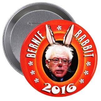 Chorreadoras de Bernie: Conejo 2016 de Bernie Pin Redondo De 4 Pulgadas