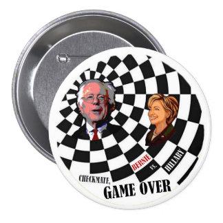Chorreadoras de Bernie contra Hillary Clinton Pin Redondo De 3 Pulgadas