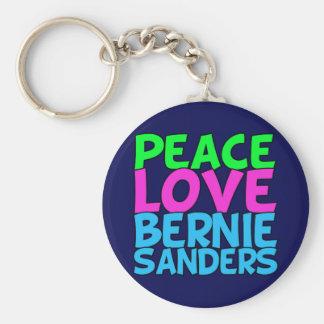 Chorreadoras de Bernie del amor de la paz (azules) Llavero Redondo Tipo Pin
