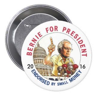 Chorreadoras de Bernie para los E.E.U.U. Pin Redondo De 3 Pulgadas