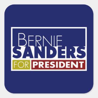 Chorreadoras de Bernie para presidente V1 Pegatina Cuadrada