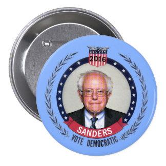 Chorreadoras Demócrata de Bernie para el Pin Redondo De 3 Pulgadas