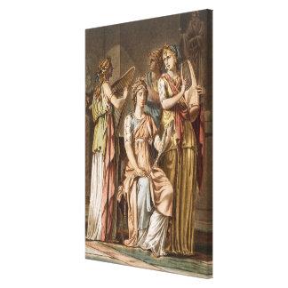 Chorus of Israelite Women, costumes for 'Esther' b Canvas Print