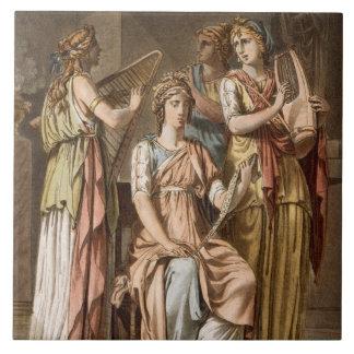 Chorus of Israelite Women, costumes for 'Esther' b Ceramic Tile