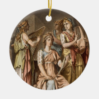 Chorus of Israelite Women, costumes for 'Esther' b Double-Sided Ceramic Round Christmas Ornament