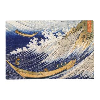 Choshi en la provincia de Simosa por Hokusai Salvamanteles