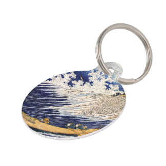 Choshi in the Simosa province by Hokusai Pet ID Tag
