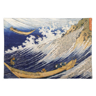 Choshi in the Simosa province by Hokusai Cloth Placemat