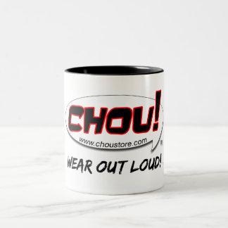 CHOU!  Wear Out Loud Two-Tone Coffee Mug