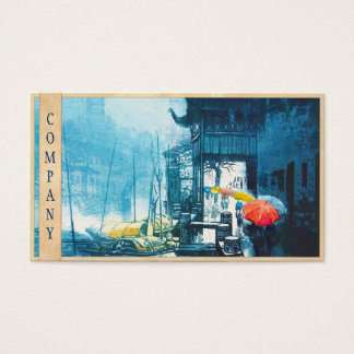 Chou Xing Hua Suzhou Scenery chinese painting Business Card