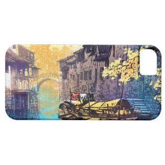 Chou Xing Hua Suzhou Scenery river sunset painting iPhone 5 Cases