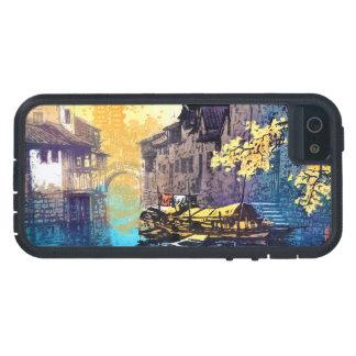 Chou Xing Hua Suzhou Scenery river sunset painting iPhone 5 Cover