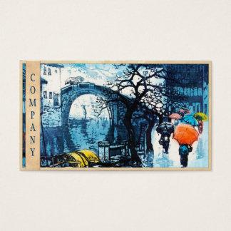 Chou Xing Hua Suzhou Scenery vintage chinese art Business Card