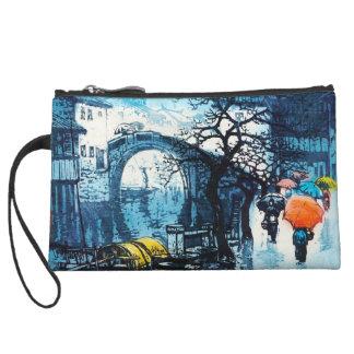 Chou Xing Hua Suzhou Scenery vintage chinese art Wristlet Wallet