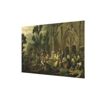 Chouans en el Vendee Lienzo Envuelto Para Galerias