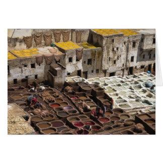 Chourara tannery, Fez Greeting Card