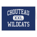 Chouteau Wildcats Middle Chouteau Oklahoma Greeting Card