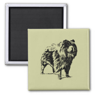 Chow 2 Inch Square Magnet