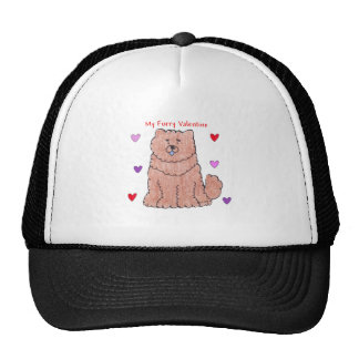 Chow Chjow Red Furry Valentine Trucker Hat