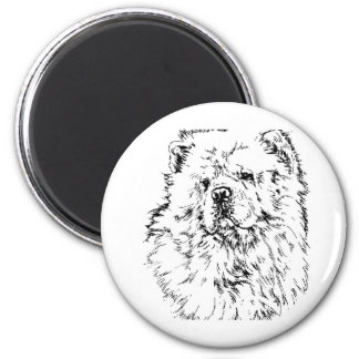 (Chow-Chow1 2 Inch Round Magnet