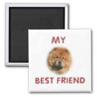 CHOW CHOW 2 INCH SQUARE MAGNET