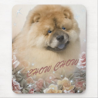 CHOW CHOW among roses mousepad