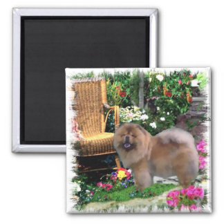 Chow Chow Art Gifts 2 Inch Square Magnet