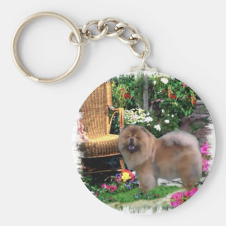 Chow Chow Art Gifts Keychains