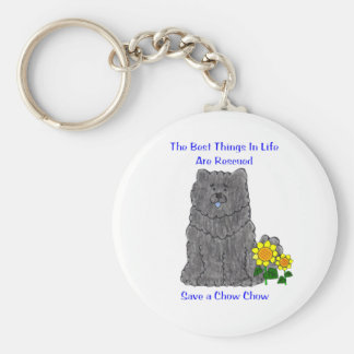 Chow Chow Black Best Things In Life Keychain