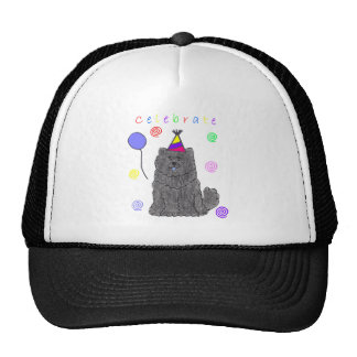 Chow Chow Black Celebrate Trucker Hat