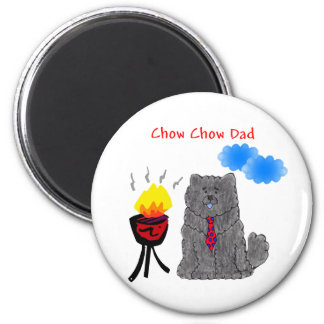 Chow Chow Black - Dad Magnet