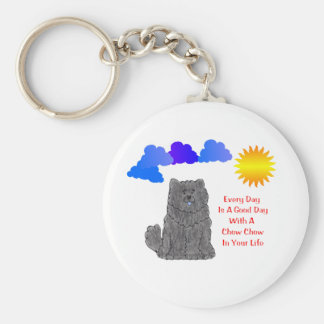 Chow Chow Black Every Day Is A Good Day Keychain