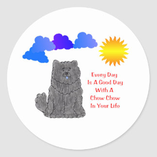 Chow Chow Black Every Day Is A Good Day Sticker