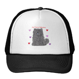 Chow Chow Black Furry Valentine Trucker Hat
