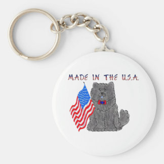 Chow Chow Black Made In The USA Keychain