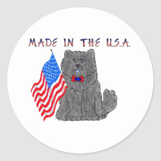 Chow Chow Black Made In The USA Sticker