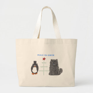 Chow Chow Black Peace On Earth Canvas Bag