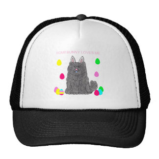Chow Chow Black Somebunny Loves Me Trucker Hat