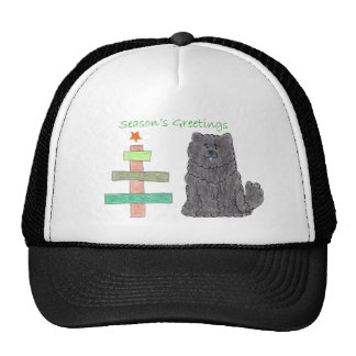 Chow Chow Black Stick Tree Trucker Hat