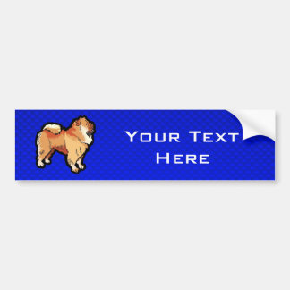 Chow Chow; Blue Bumper Stickers