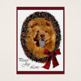 Chow Chow Christmas Gifts Business Card