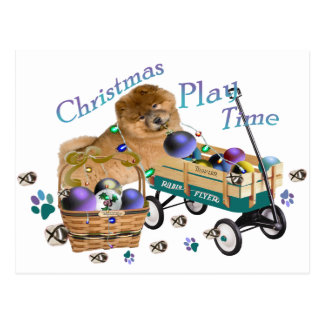 Chow Chow Christmas Play Gifts Postcard