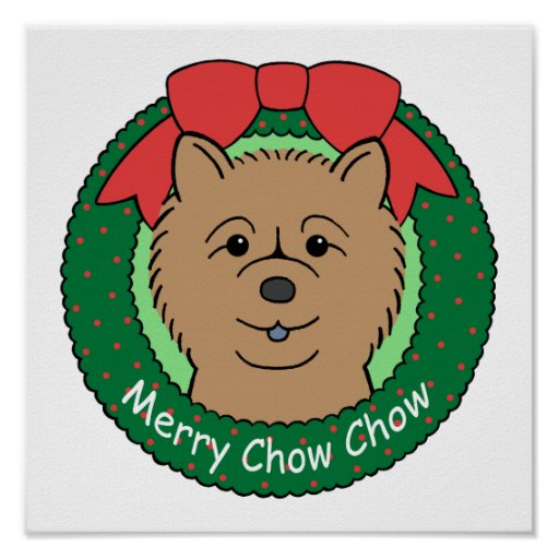 Chow Chow Christmas Poster