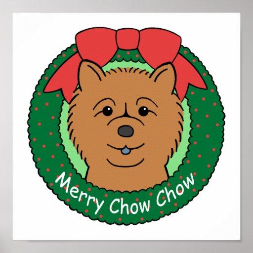 Chow Chow Christmas Print