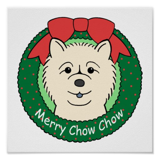 Chow Chow Christmas Posters